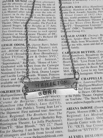 Hamilton Broadway Hamilton Burr Lyrics Double Bar Necklace - HAM4WESTEROS