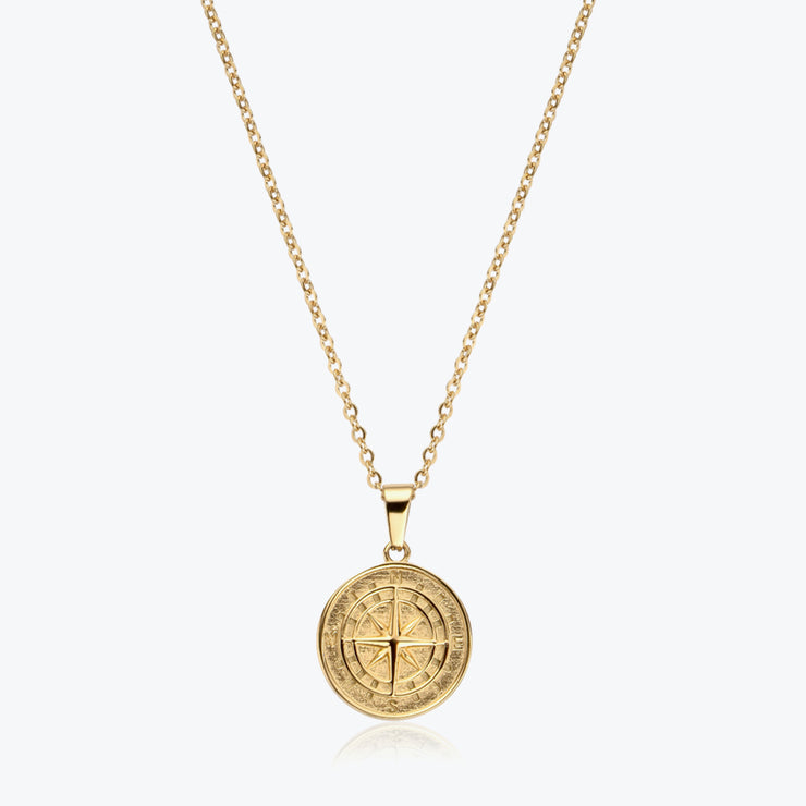 Gold Compass / Gold Chain