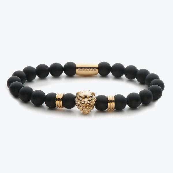 Lion Series - Gold Black Onyx