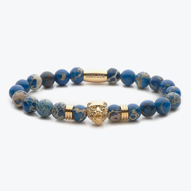 Gold Lion / Blue Jasper