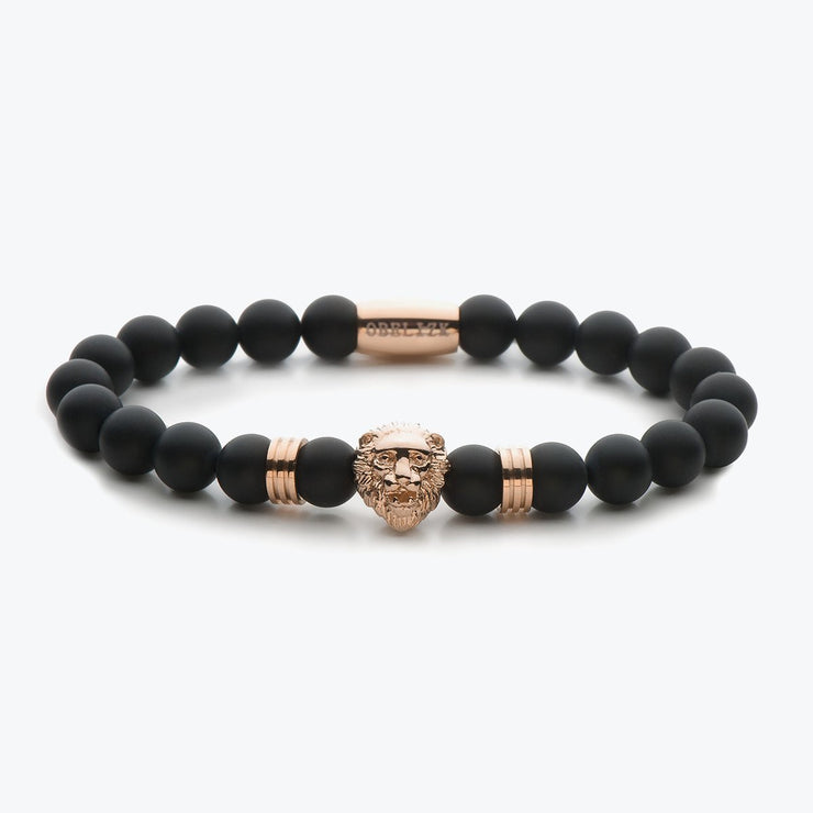 Rose Gold Lion / Black Onyx