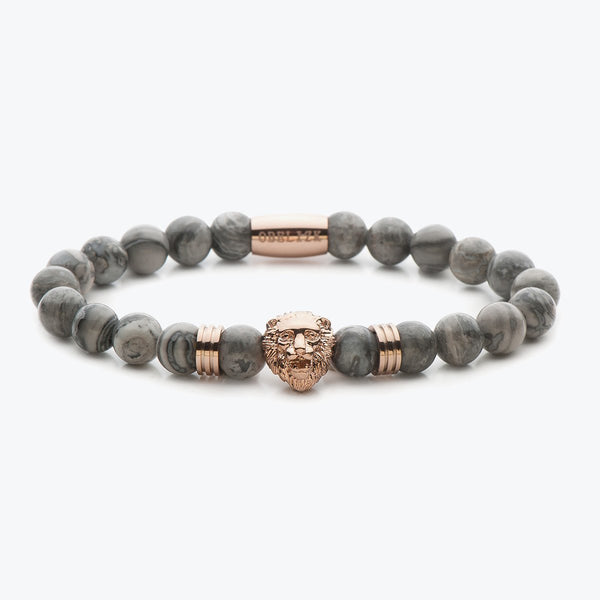 Limited Edition - Rose Gold Grey Jasper