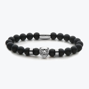 Lion Series - Silver Black Onyx Matte