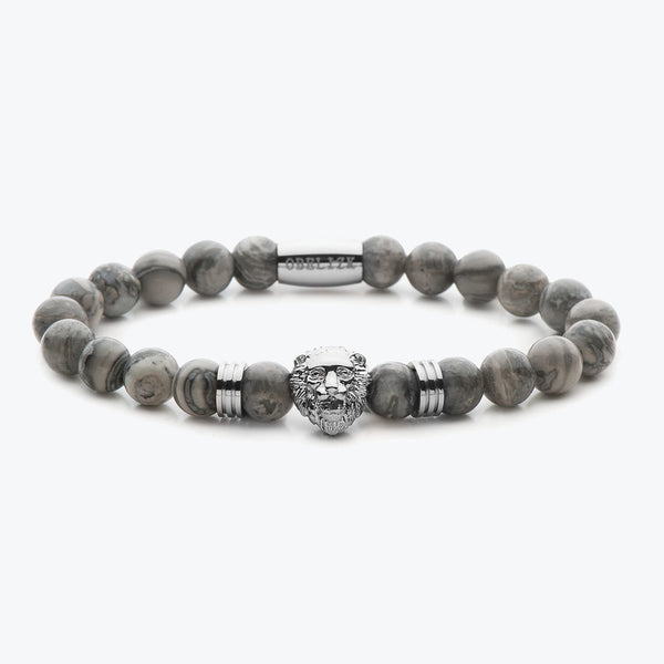 Lion Series - Silver Grey Jasper