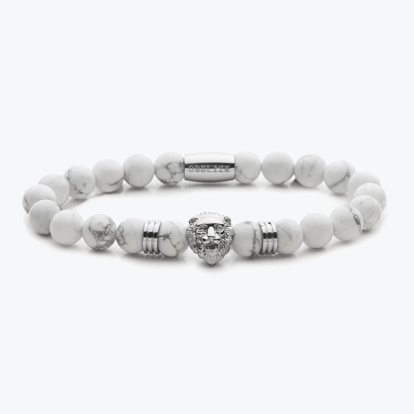 Lion Series - Silver White Jasper