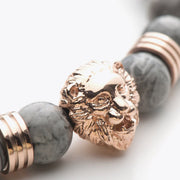 Rose Gold Lion / Grey Jasper