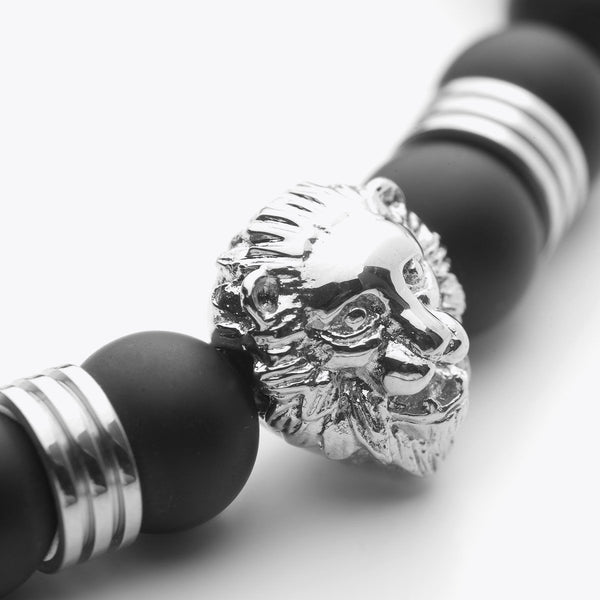 Lion Series - Silver Black Onyx