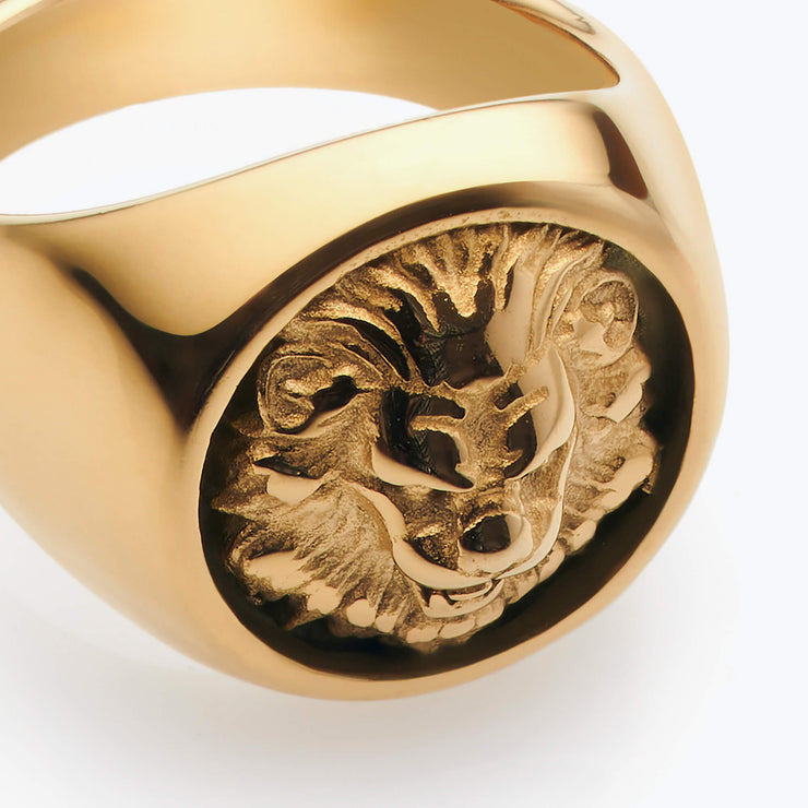 Gold Lion / Gold Ring