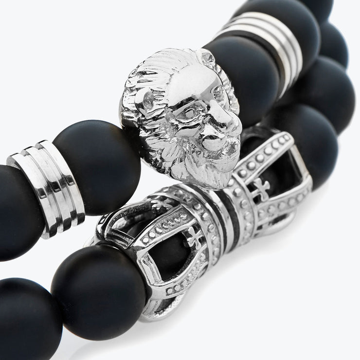 Silver Lion Stack / Black Onyx