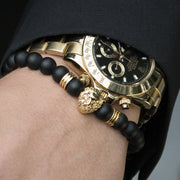 Gold Lion / Black Onyx