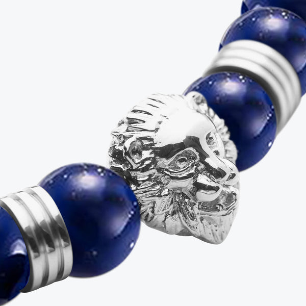 Lion Series - Silver Dark Blue Lapis