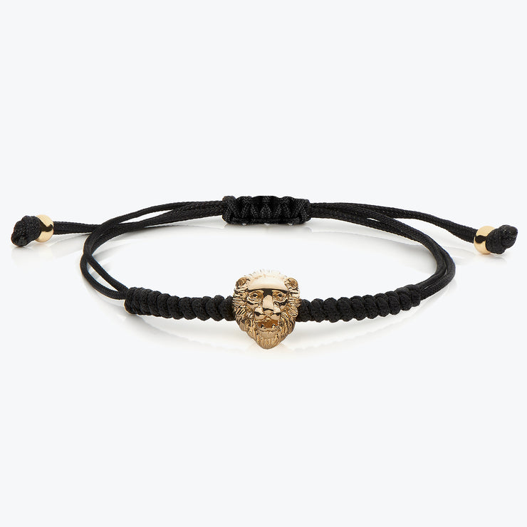 Gold Lion / Black Macrame