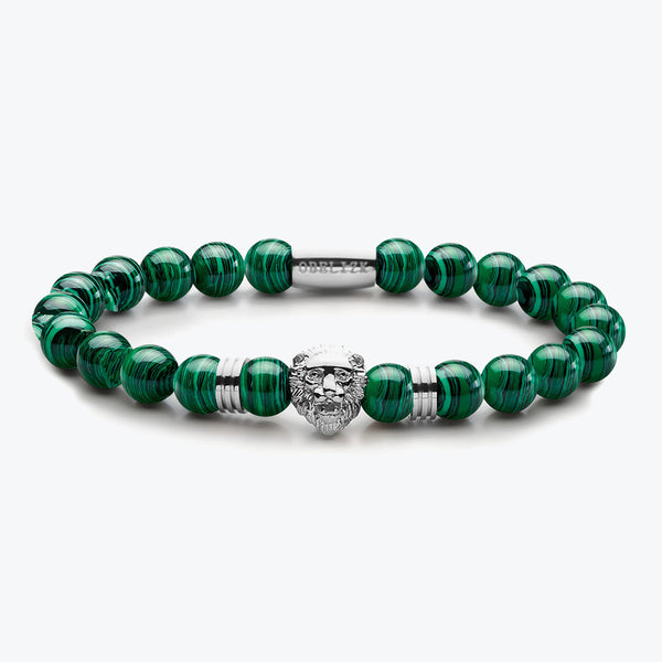 Lion Series - Silver Green Malachite