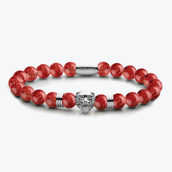 Lion Series - Silver Red Jasper