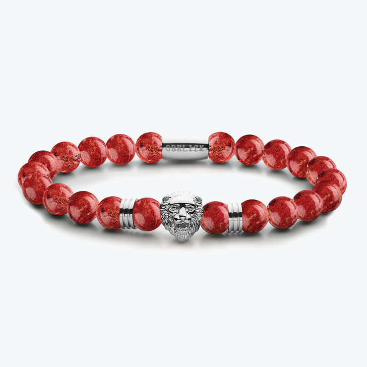 Lion Series Silver Red Jasper