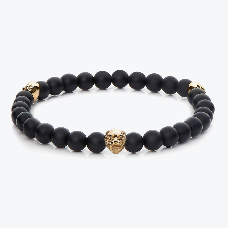 Gold Three Lions / Black Onyx