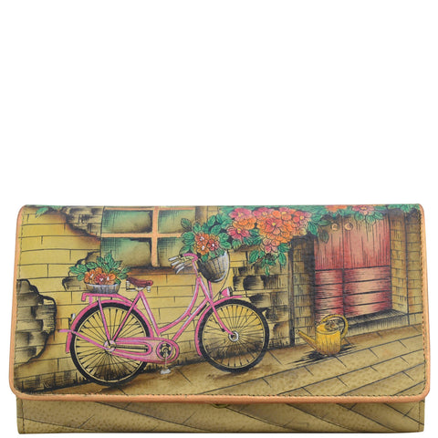 Anuschka Vintage Bike Accordion Wallet