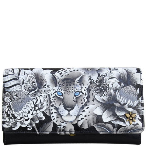 Anuschka Cleopatra's Leopard Accordion Flap Wallet