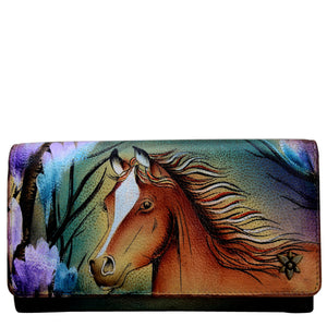Anuschka Free Spirit Accordion Flap Wallet