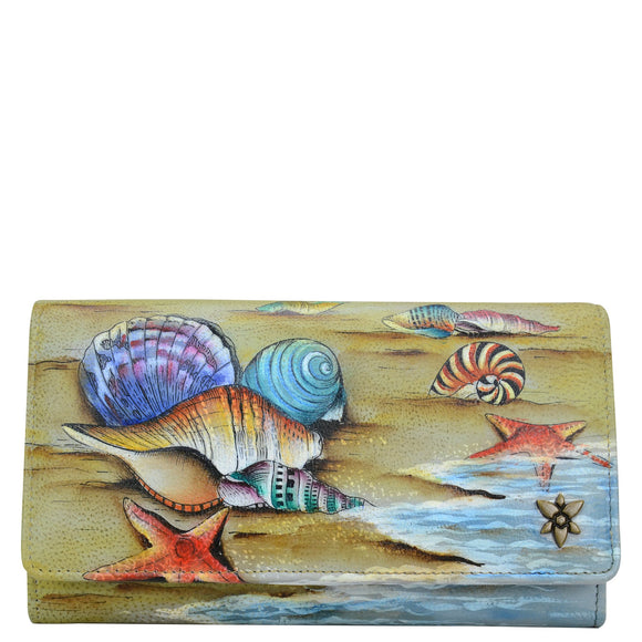 Anuschka Gift of the Sea Accordion Flap Wallet