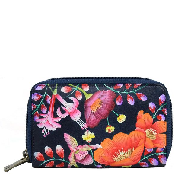 Anuschka Moonlit Meadow Twin Zip Wallet