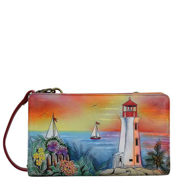 Anuschka Guiding Light Wallet Crossbody