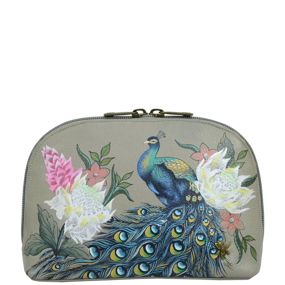 Anuschka Regal Peacock Cosmetic Pouch