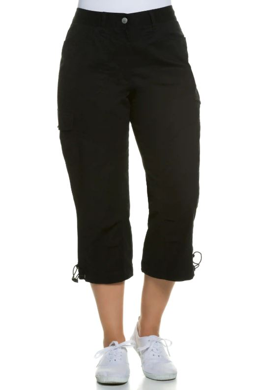 Seamed Cargo Crop Stretch Pants