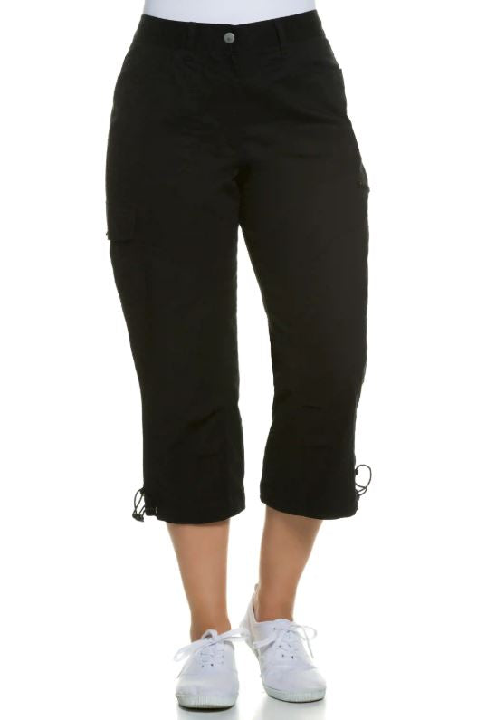 Ulla | Pants | Seamed Cargo Pocket Crop Stretch Pants
