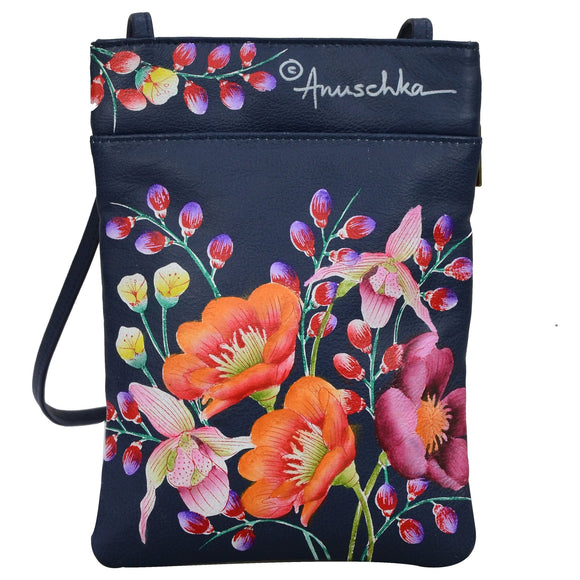 Anuschka Moonlit Meadow Mini Crossbody