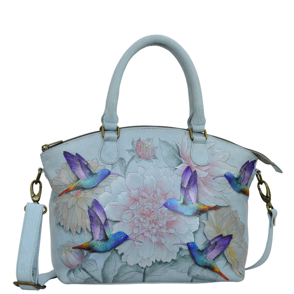 Anuschka Rainbow Birds Convertible Satchel