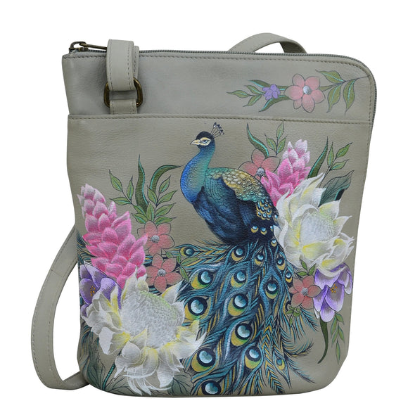 Anuschka Regal Peacock Crossbody Organizer