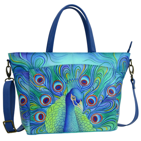 Anuschka Jeweled Plume Large Organizer Tote