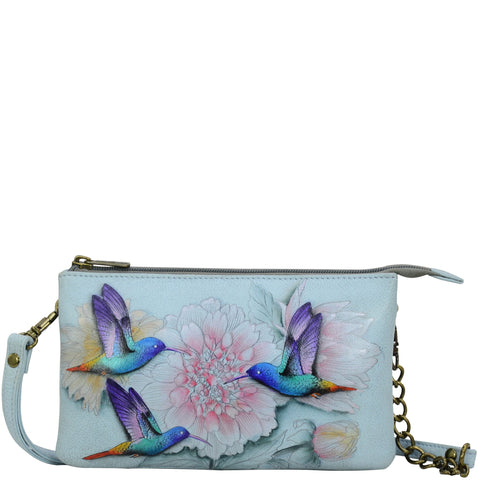 Anuschka Rainbow Birds Organizer Crossbody