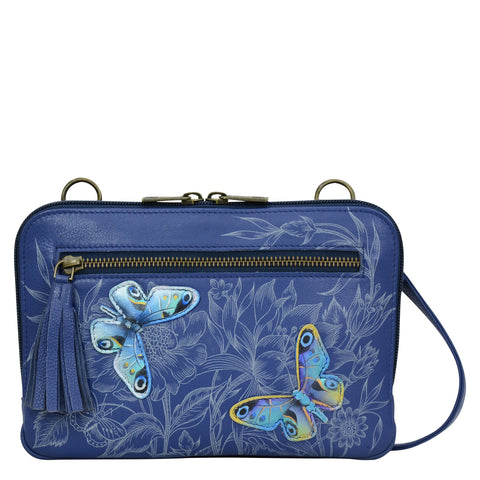 Anuschka Garden of Delights Crossbody Belt Bag
