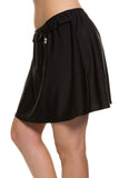 Beach Elastic Waist Swim Skirt