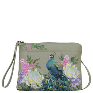Anuschka Regal Peacock Three-in-One Clutch