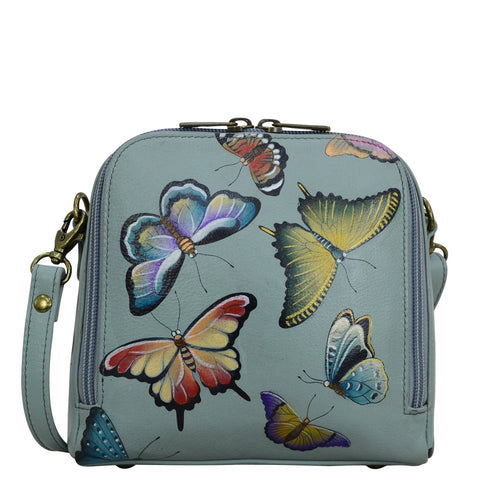 Anuschka Butterfly Heaven Zip Around Travel Organizer