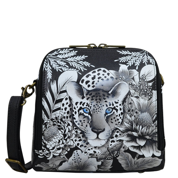 Anuschka Cleopatra's Leopard Zip Around Travel Organizer