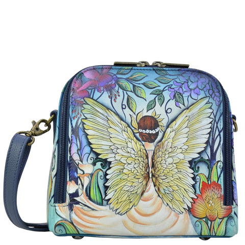 Anuschka Enchanted Garden Zip Around Travel Organizer