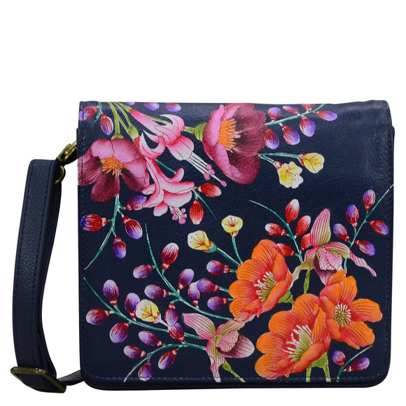 Anuschka Moonlit Meadow Messenger Bag
