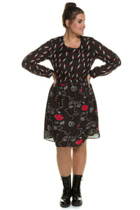 Ulla Popken Patchwork Print 80's Dress