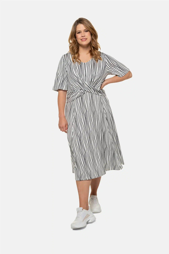Crisscross Stretch Knit Dress