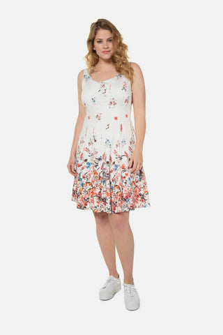 Floral Border Cotton Tank Dress