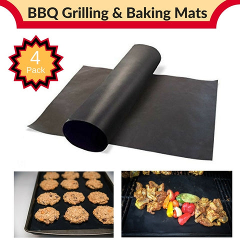 4 Baking/BBQ Mats 100% Non-Silpat/Non-Stick Heat Resistant 13x16 Miracle Mats