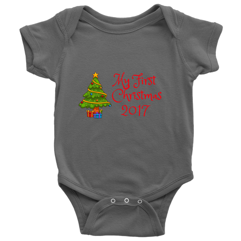My First Christmas 2017 Onesie