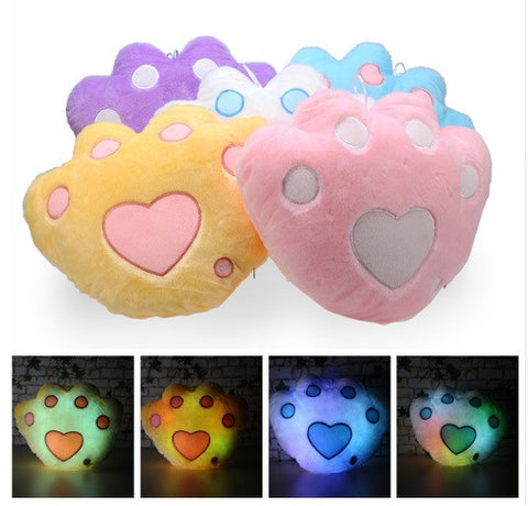 Illuminating Pet Paw Pillows