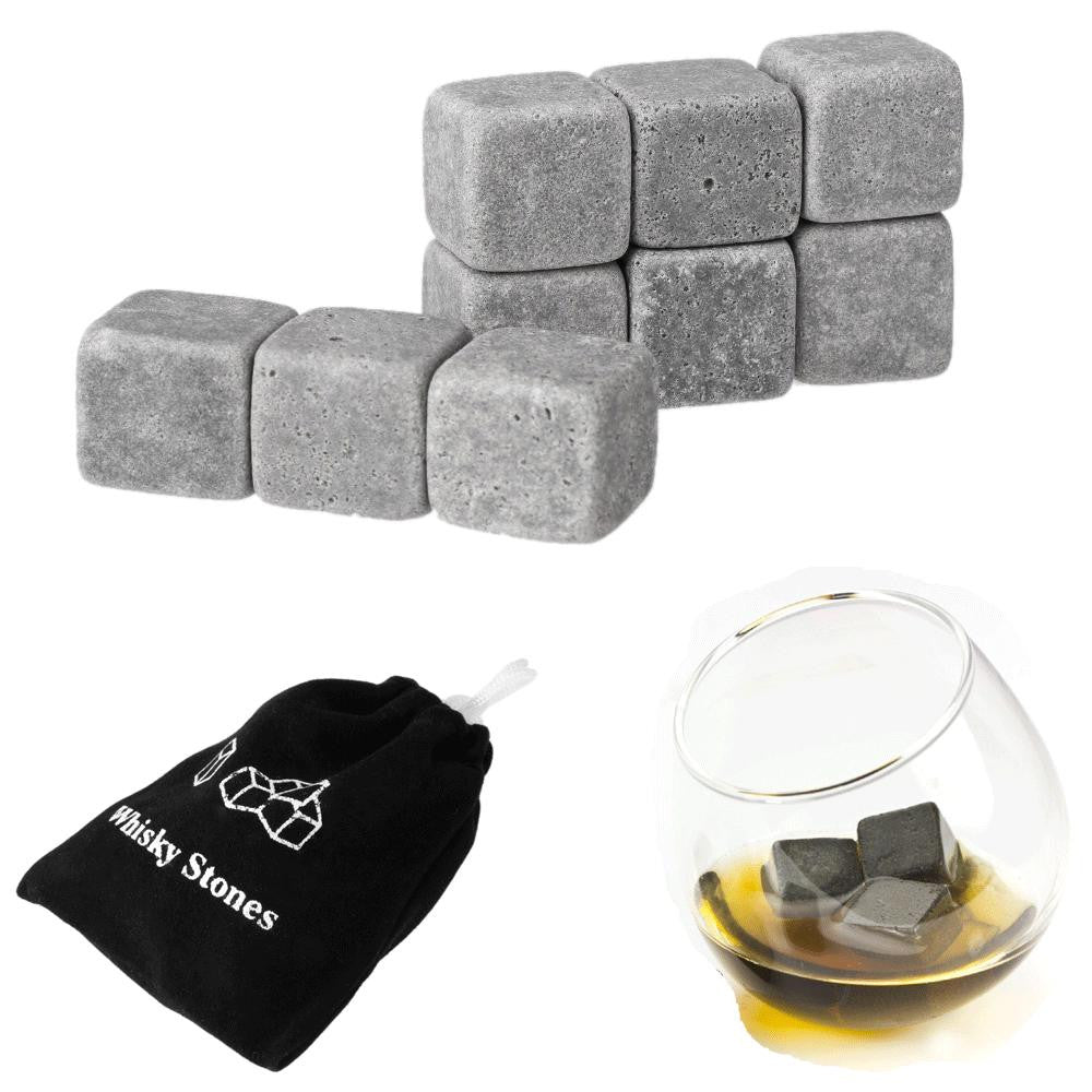 Wine & Beverage Chilling Whiskey Stones - Set of 9