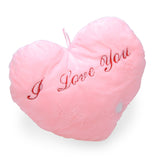 "Illuminiating Heart Shaped ""I Love You"" Pillows"