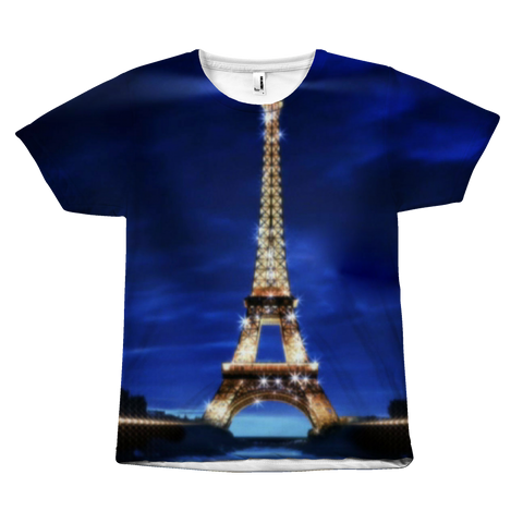 Eiffel Tower At Night - All-over Print T-Shirt